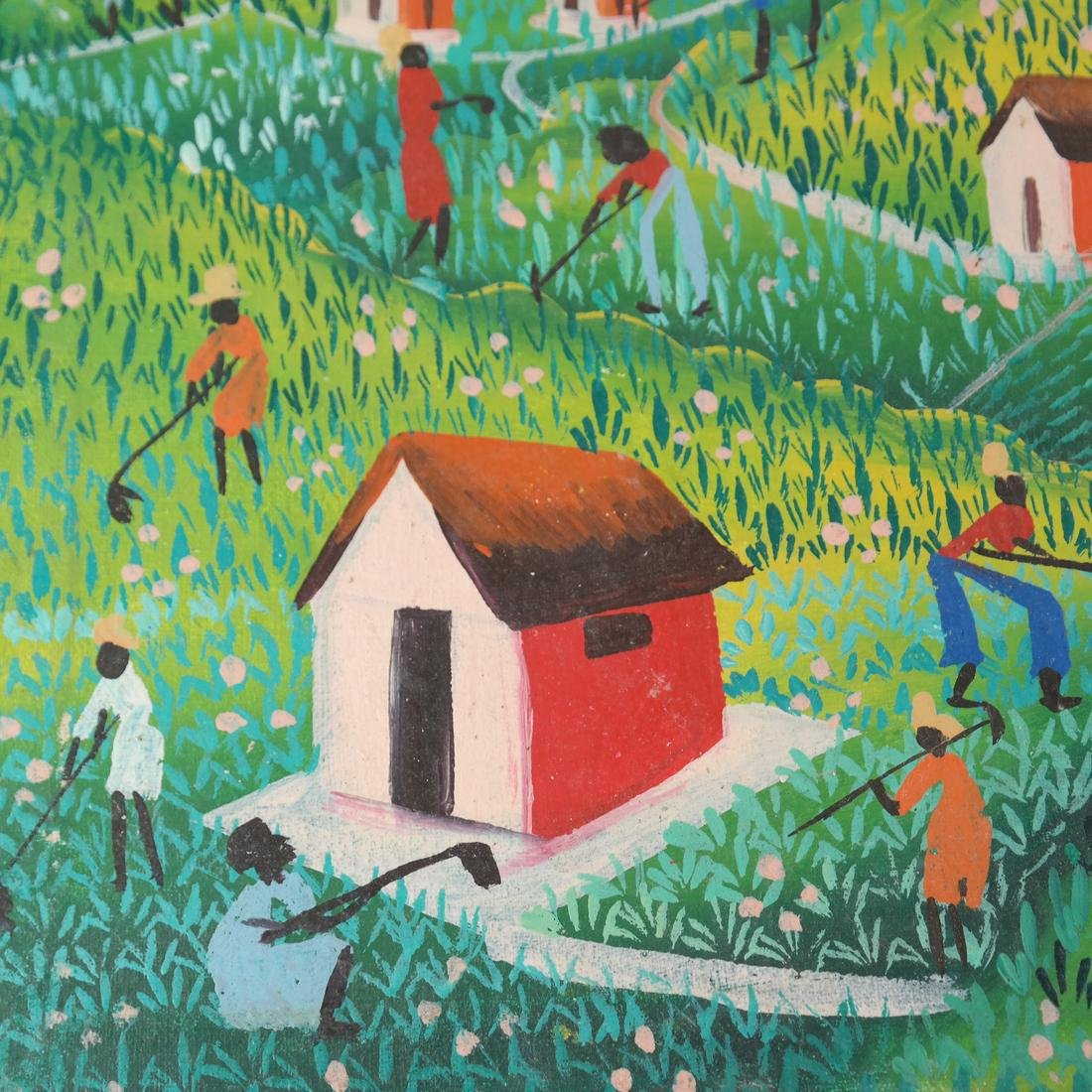 Vintage Haitian Agricultural Scene - Oil Painting - 4