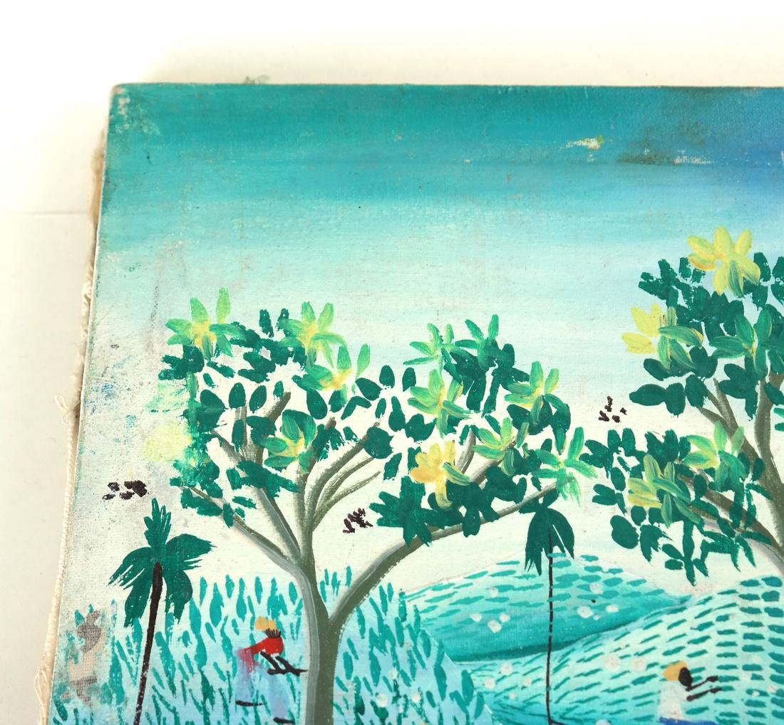 Vintage Haitian Agricultural Scene - Oil Painting - 6