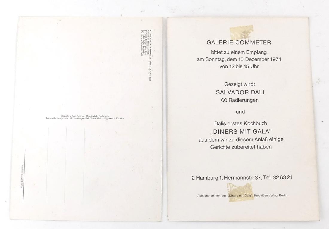 Salvador Dali Printed Ephemera - 6