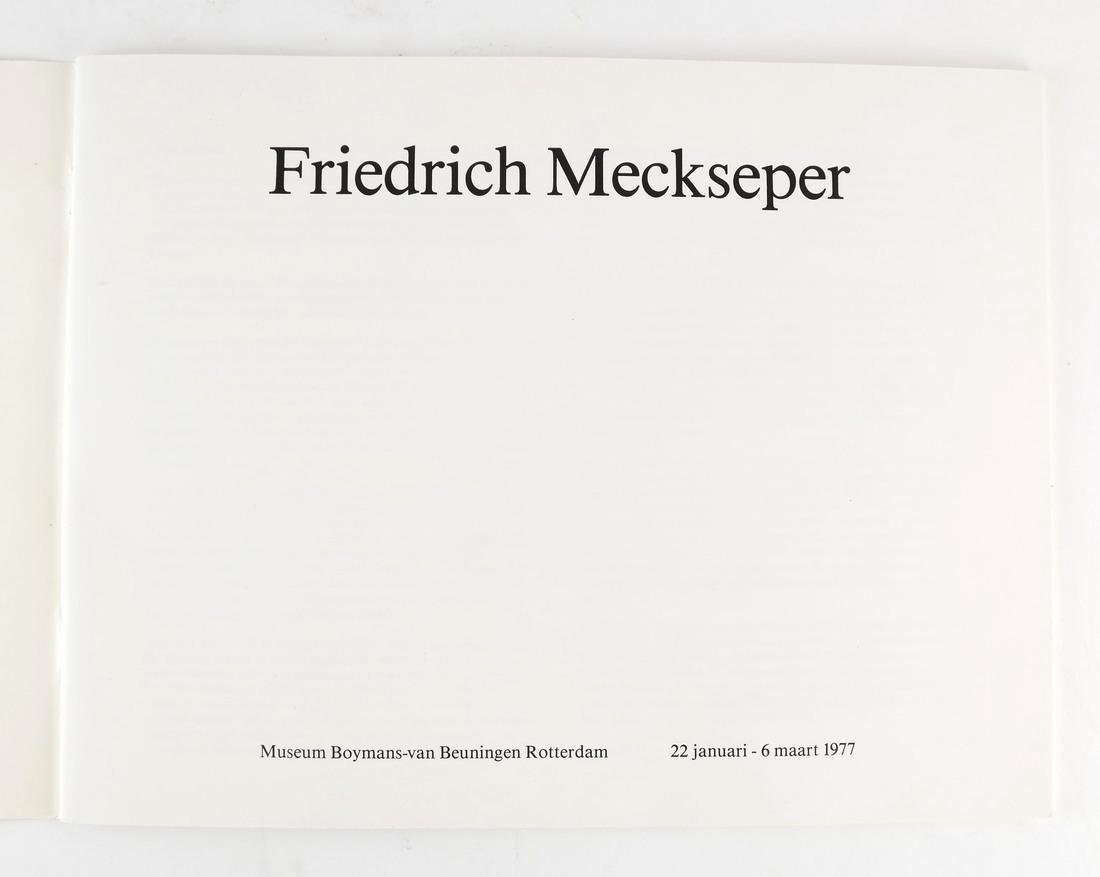 Friedrich Meckseper, Signed Etching and Catalog - 3