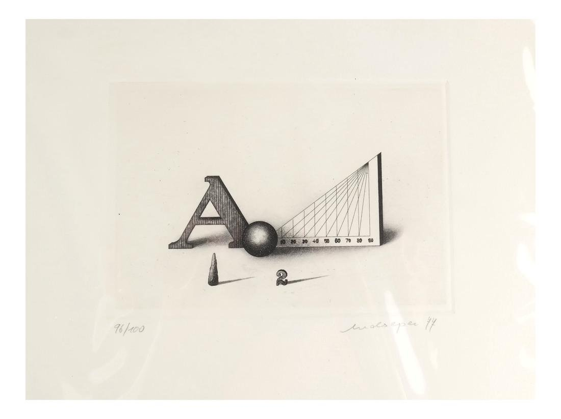 Friedrich Meckseper, Signed Etching and Catalog - 7