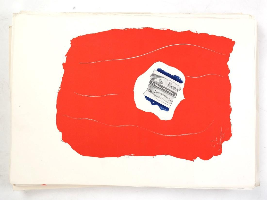 """After Robert Motherwell, """"Tricolor"""" - Lithographs - 9"""