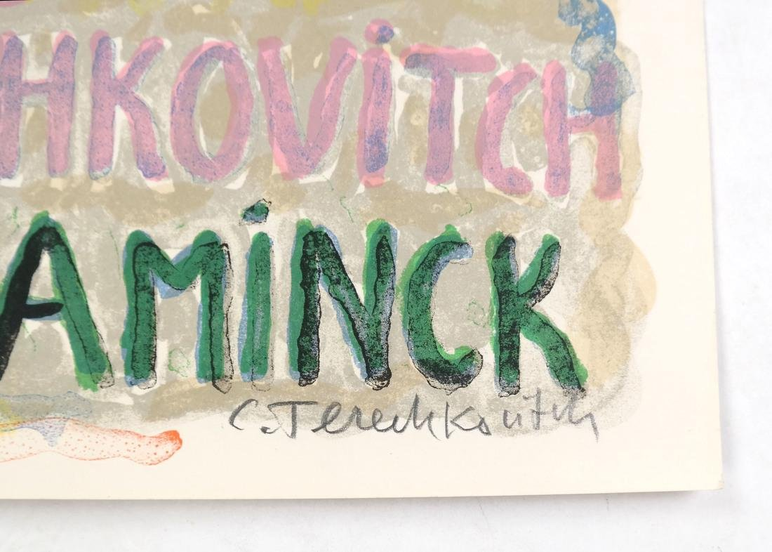 C.Terechkovitch Three Signed Color Lithographs - 5