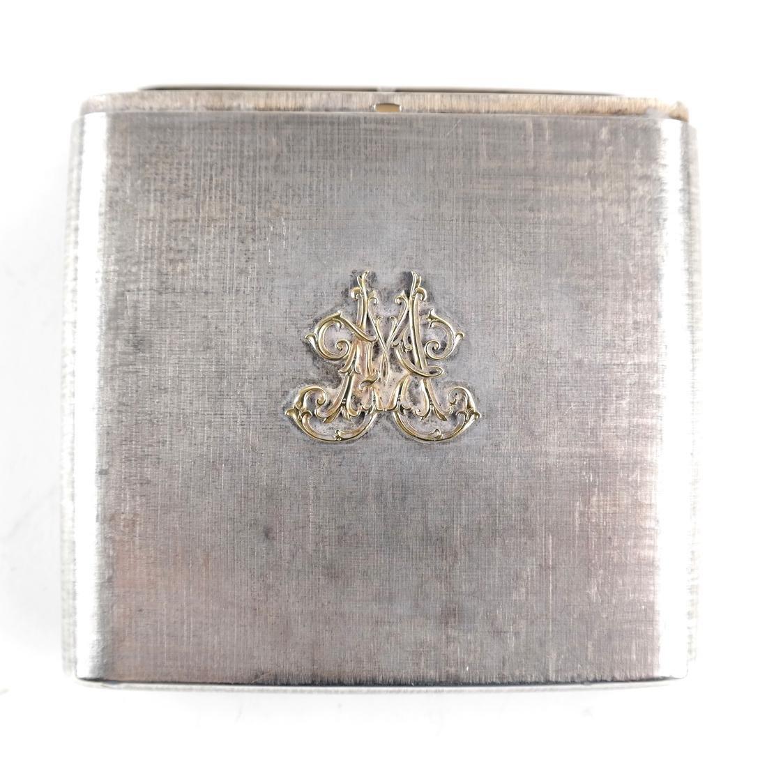 Mario Buccellati, Sterling Silver Cigarette Case - 5