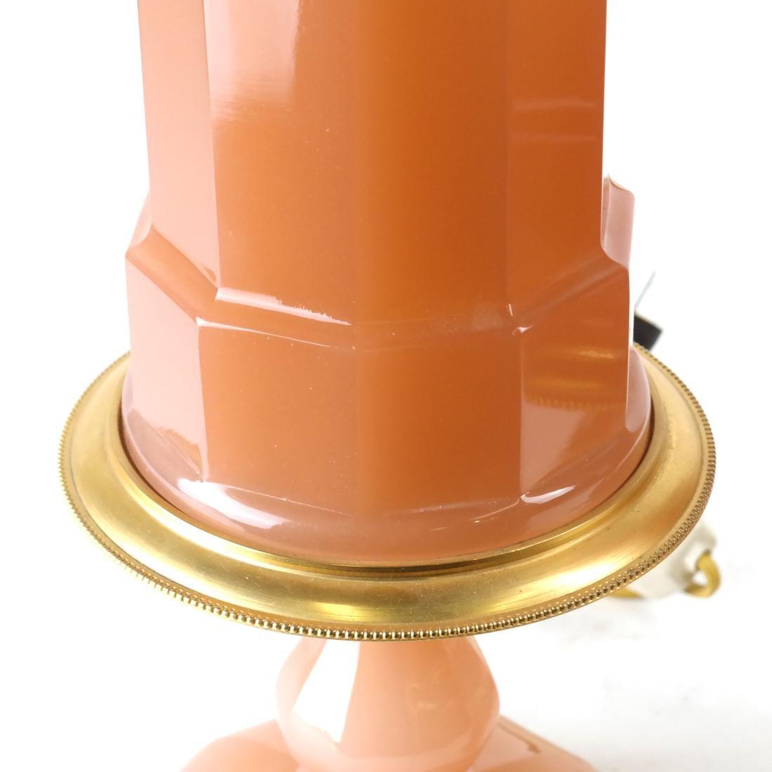Pair Mellon Opaline Glass Table Lamps - 4