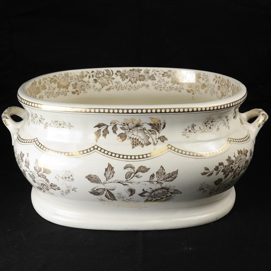 Parcel Gilt Ceramic Jardiniere