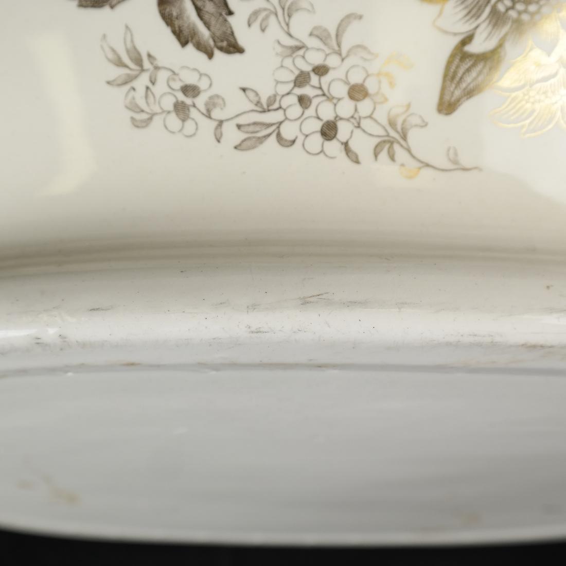 Parcel Gilt Ceramic Jardiniere - 8