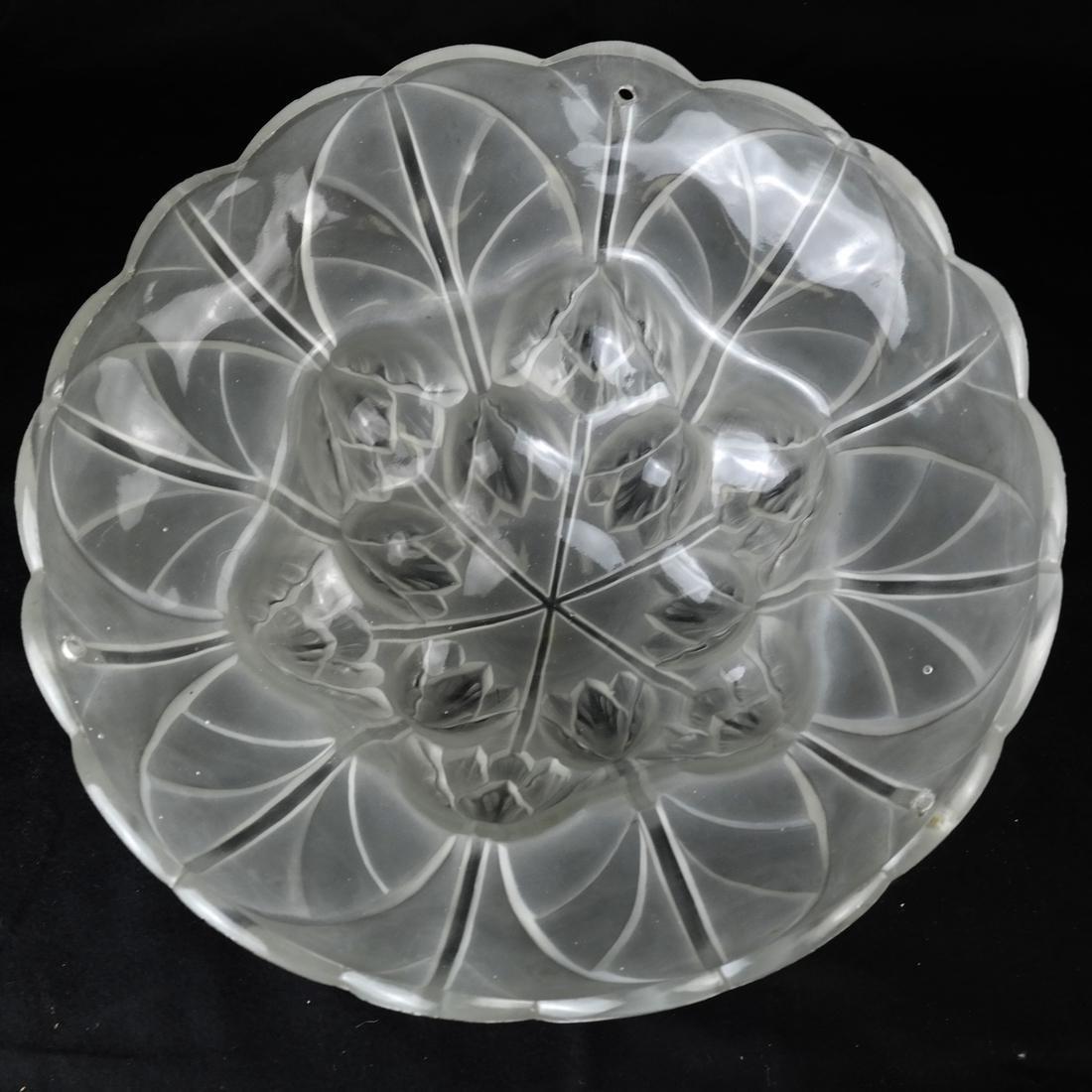 Art Nouveau Glass & Bronze Lamp - 3