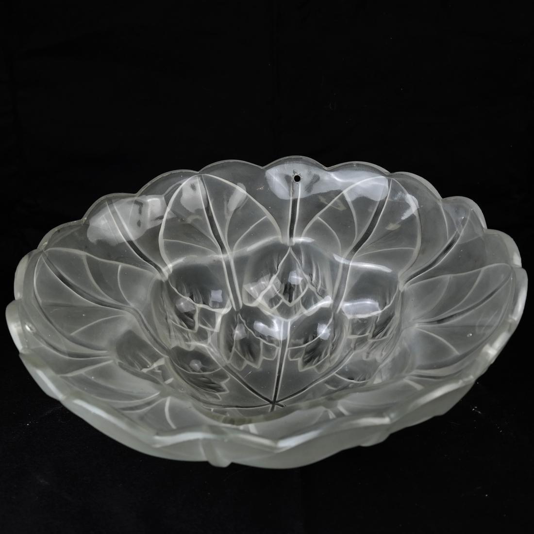 Art Nouveau Glass & Bronze Lamp - 4