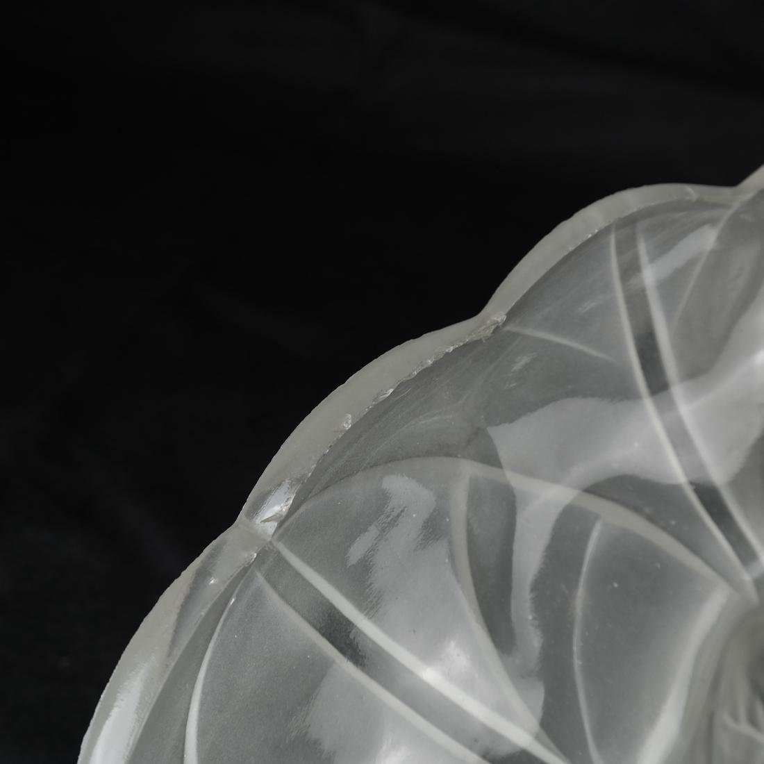 Art Nouveau Glass & Bronze Lamp - 5