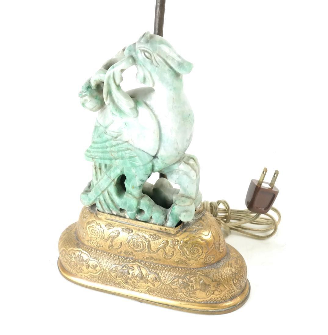 Asian-Style Hardstone Lamp - 2