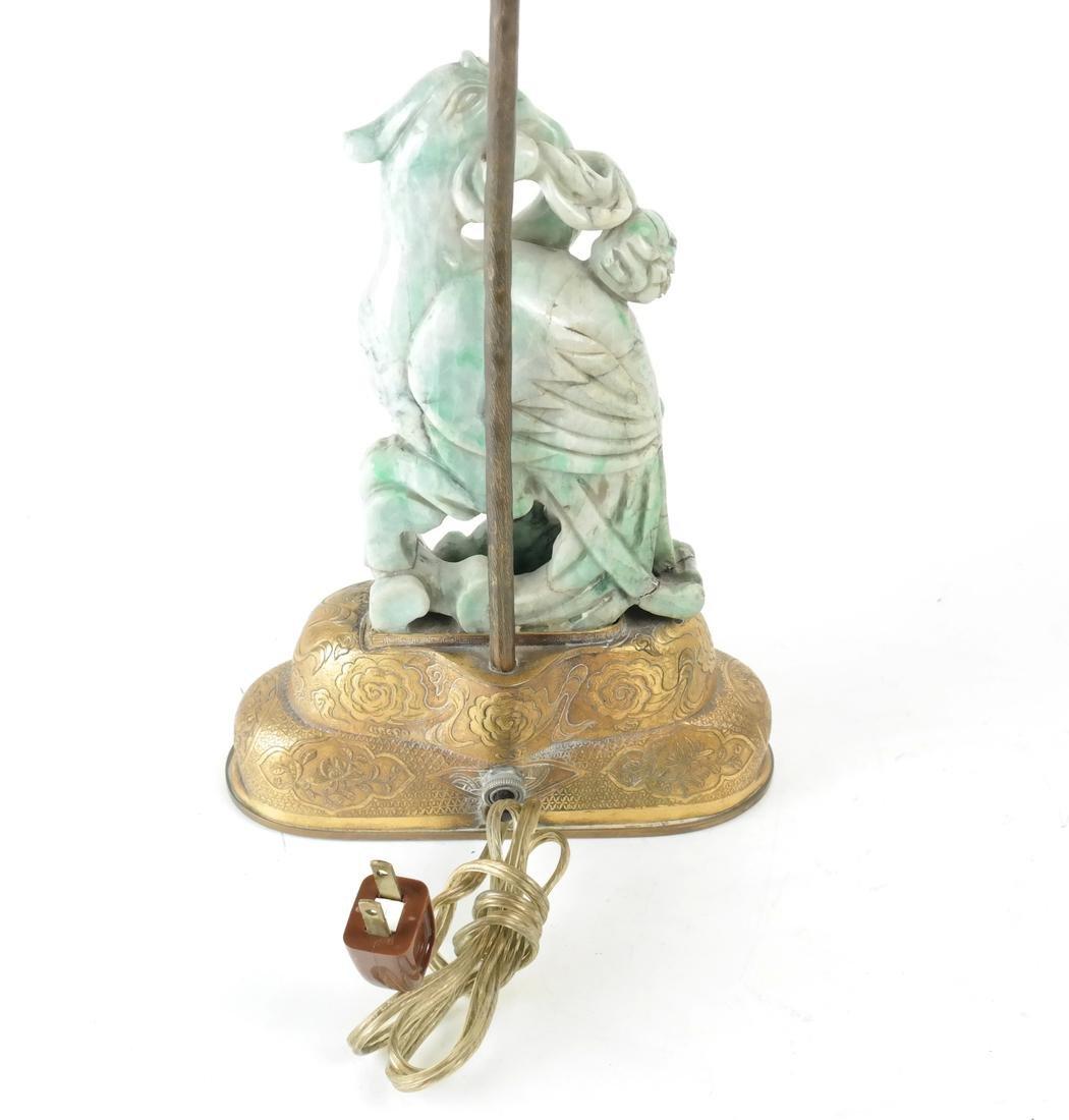 Asian-Style Hardstone Lamp - 6