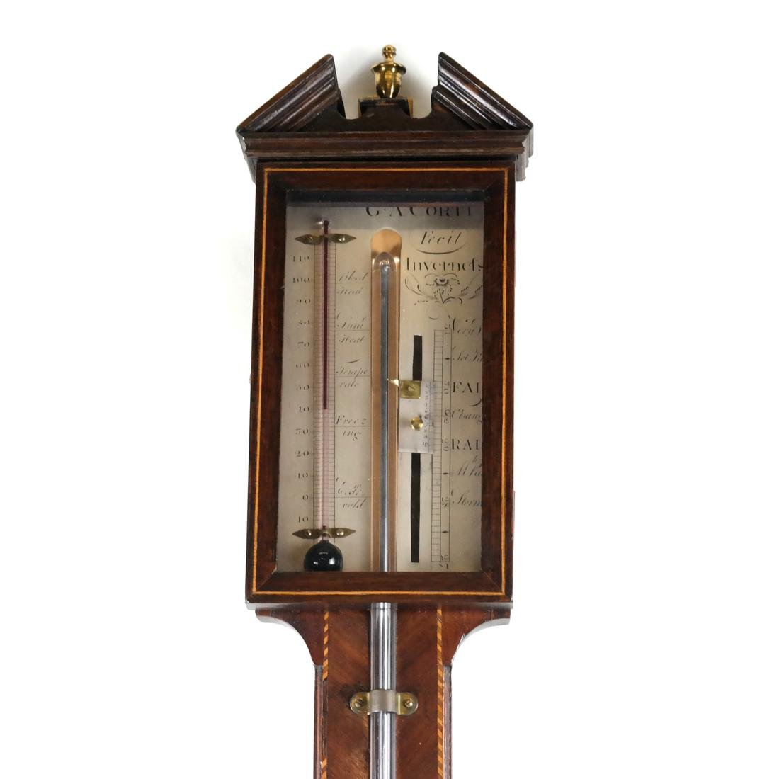 Georgian Inlaid Mahogany Stick Barometer - 2