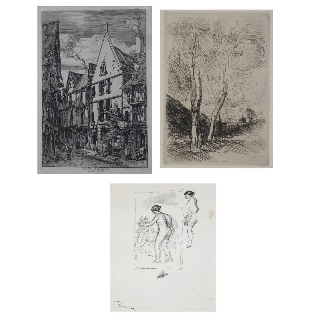 Group of Three Various Prints