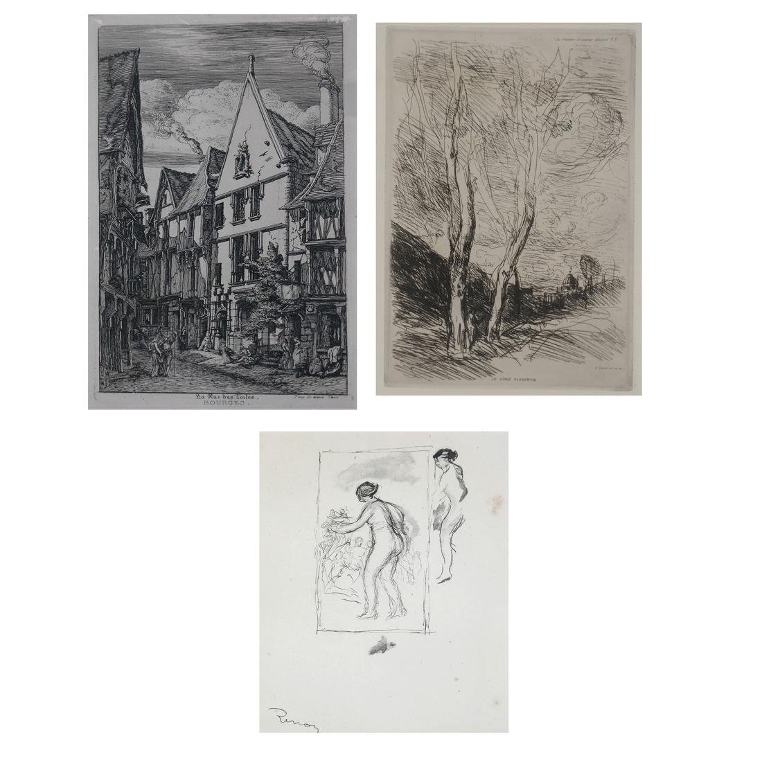 Group of Three Various Prints