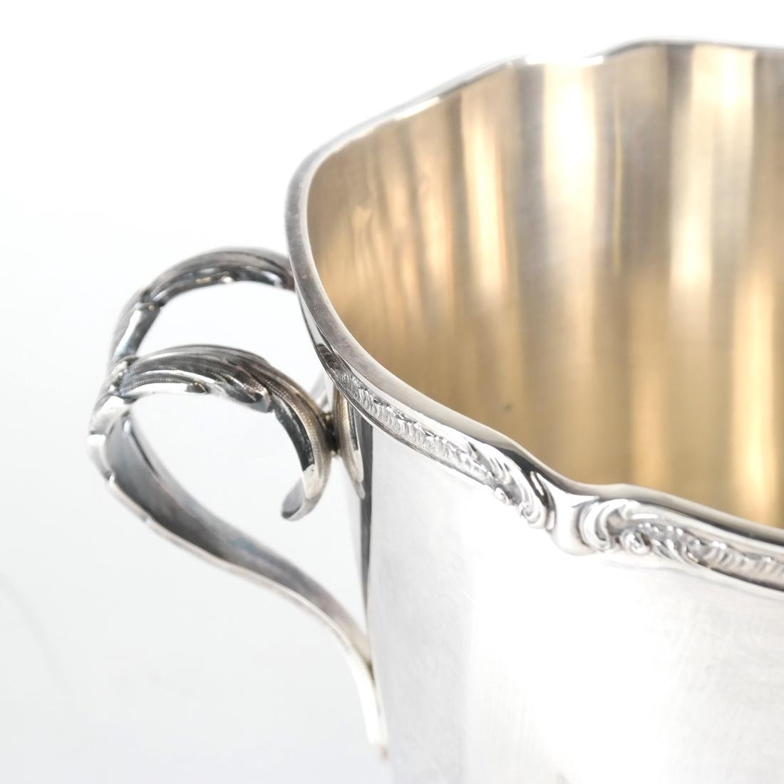 Continental Plated Ice Bucket, Tongs - 2