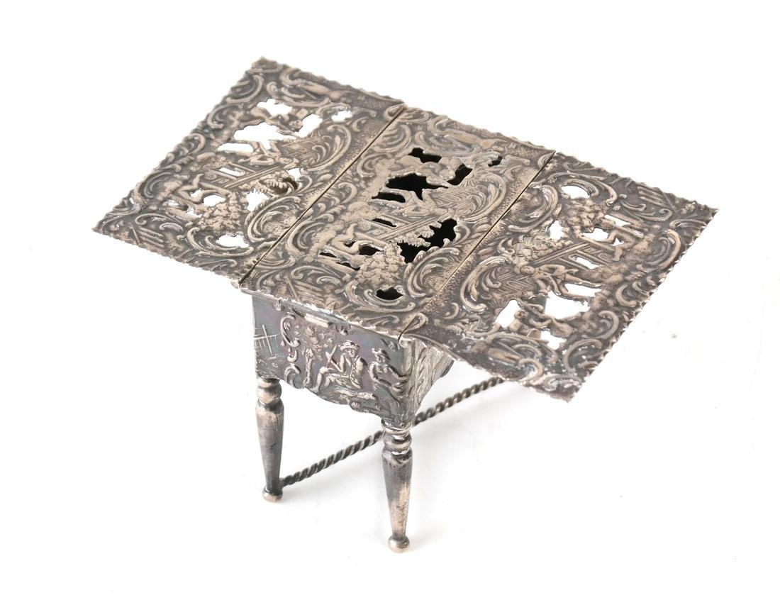 Dutch .800 Silver Miniature Table