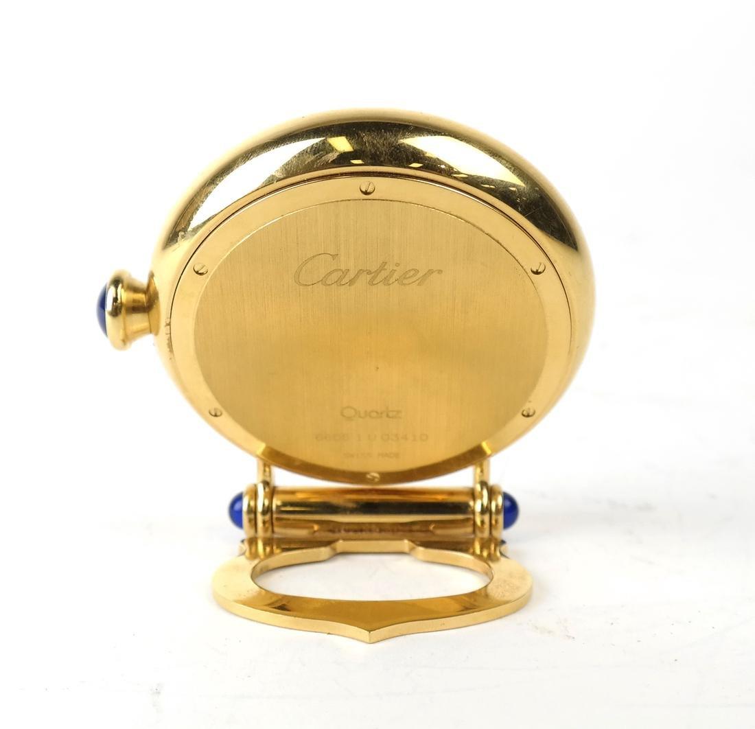 Cartier Gold-Filled Circular Desk Clock - 3