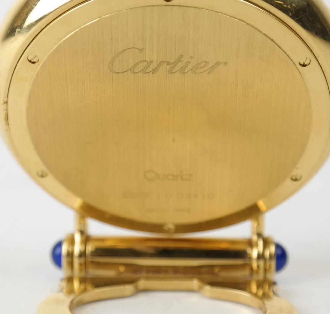 Cartier Gold-Filled Circular Desk Clock - 4