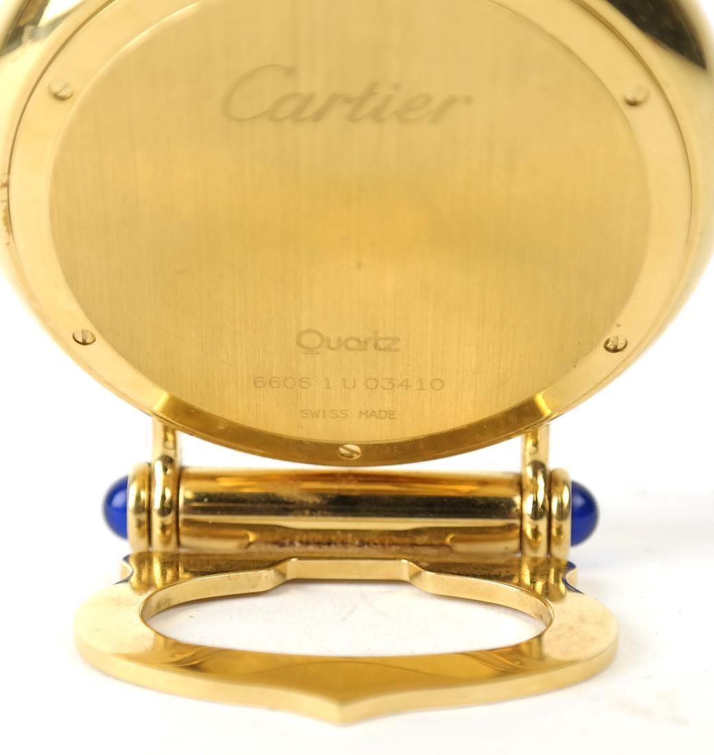 Cartier Gold-Filled Circular Desk Clock - 5