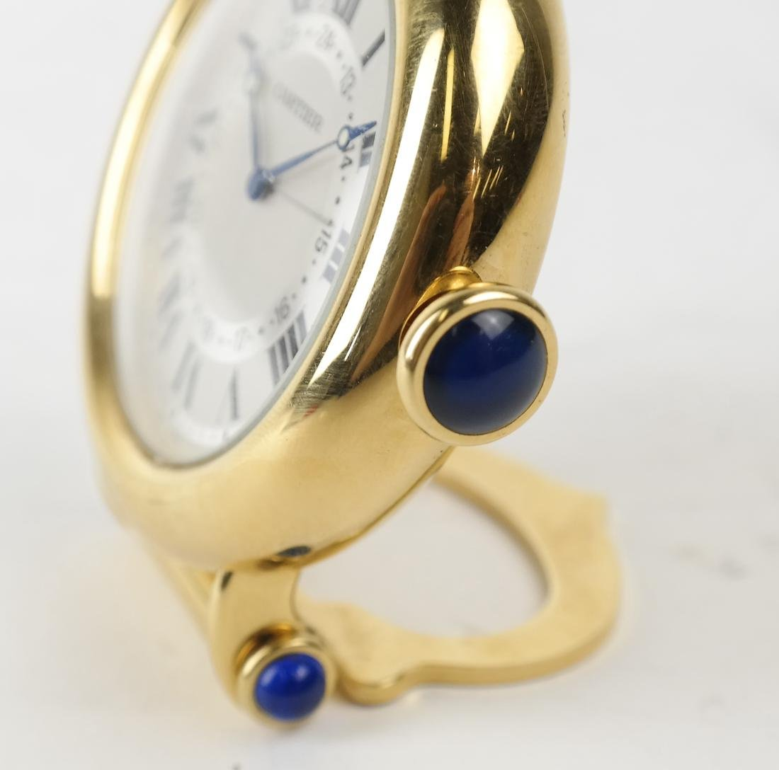 Cartier Gold-Filled Circular Desk Clock - 7