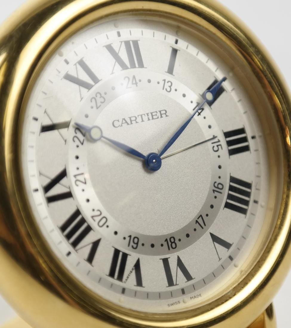 Cartier Gold-Filled Circular Desk Clock - 8