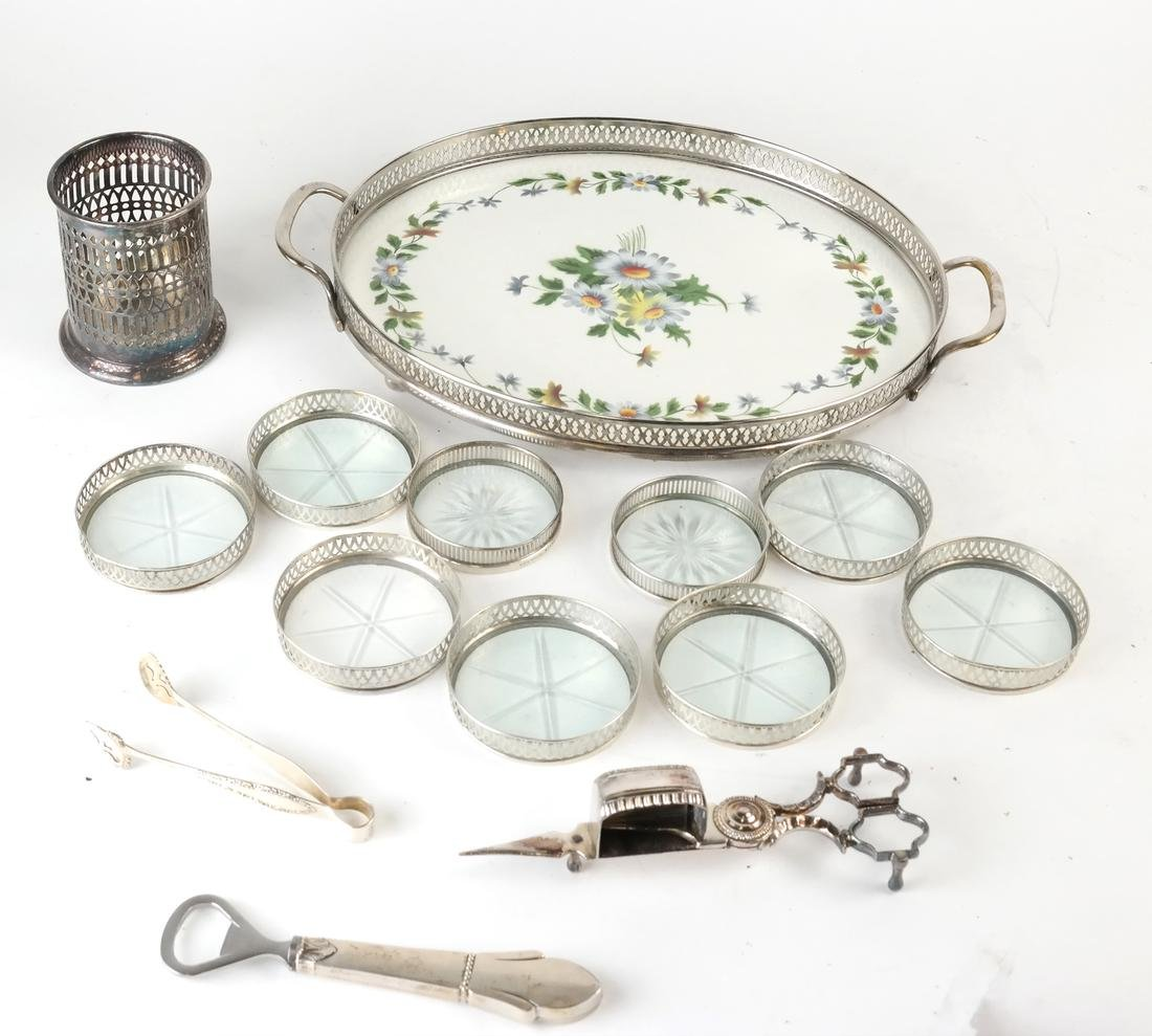 14 Misc. Silver & Plate Serving Articles