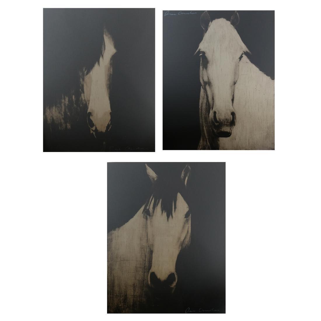 Joe Andoe, 3 Horse Lithographs
