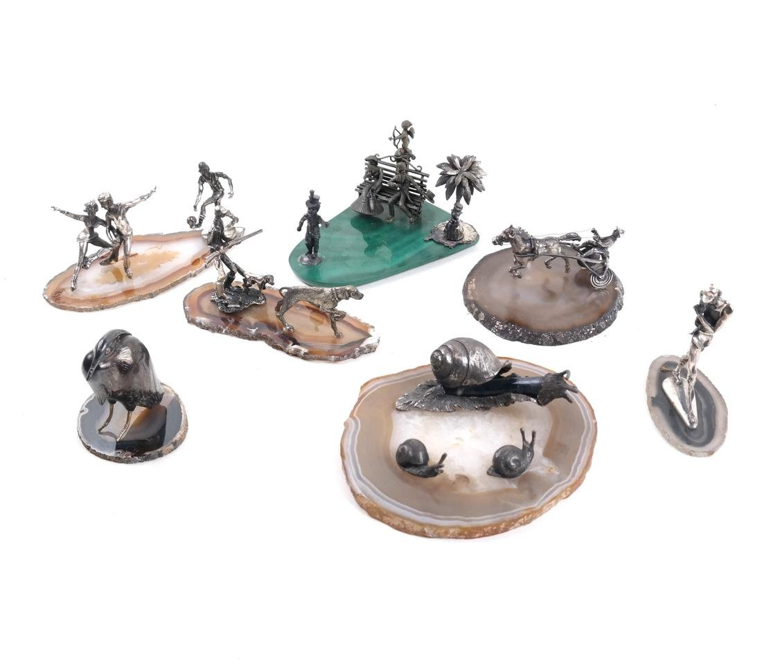 7 Mineral Slices With Miniature Figures - 2