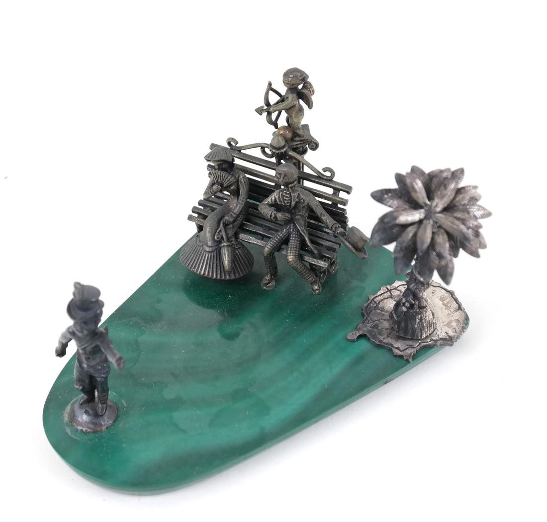 7 Mineral Slices With Miniature Figures - 6