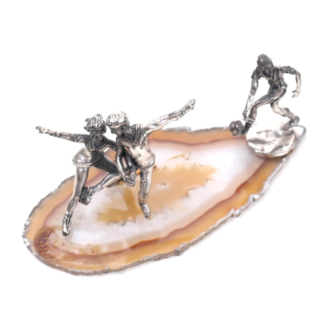 7 Mineral Slices With Miniature Figures - 7