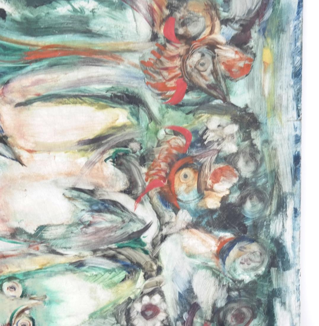 Birds, Oil on Masonite - 4