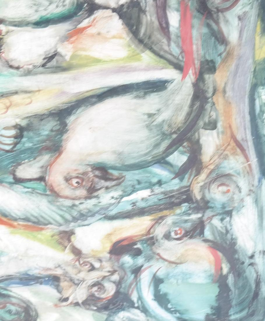 Birds, Oil on Masonite - 5