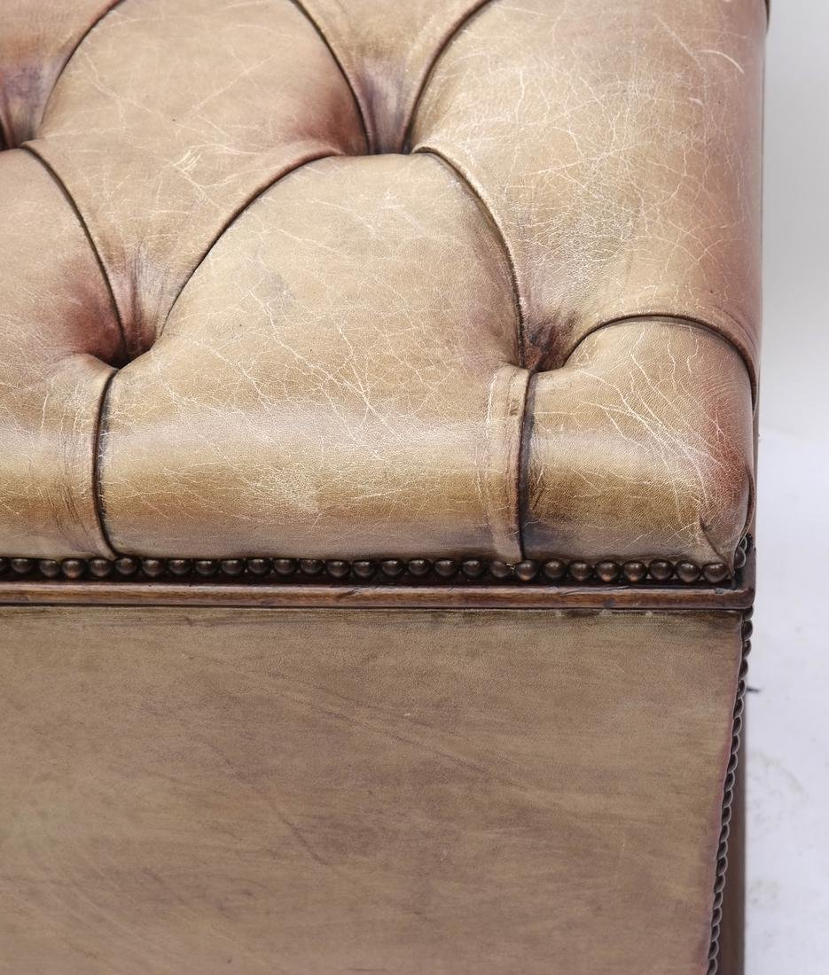 Brown Leather Hinged Trunk - 5