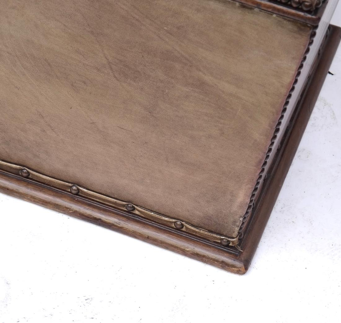 Brown Leather Hinged Trunk - 6
