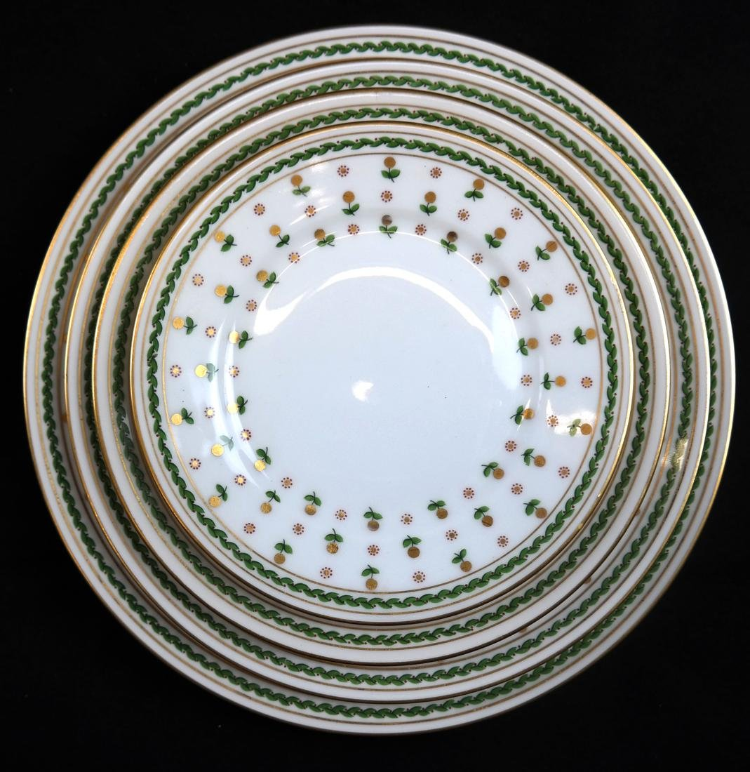 Partial French Porcelain Dinner Service - 3