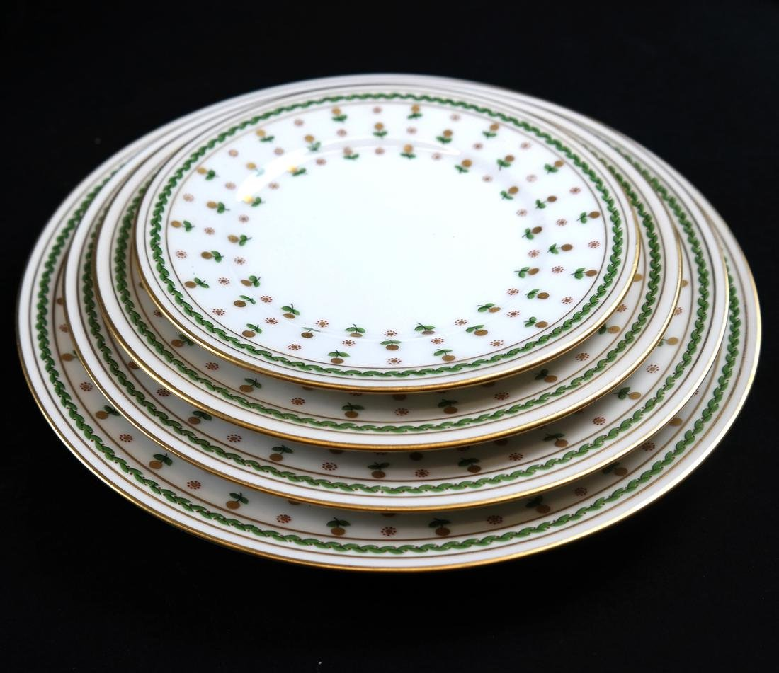 Partial French Porcelain Dinner Service - 4