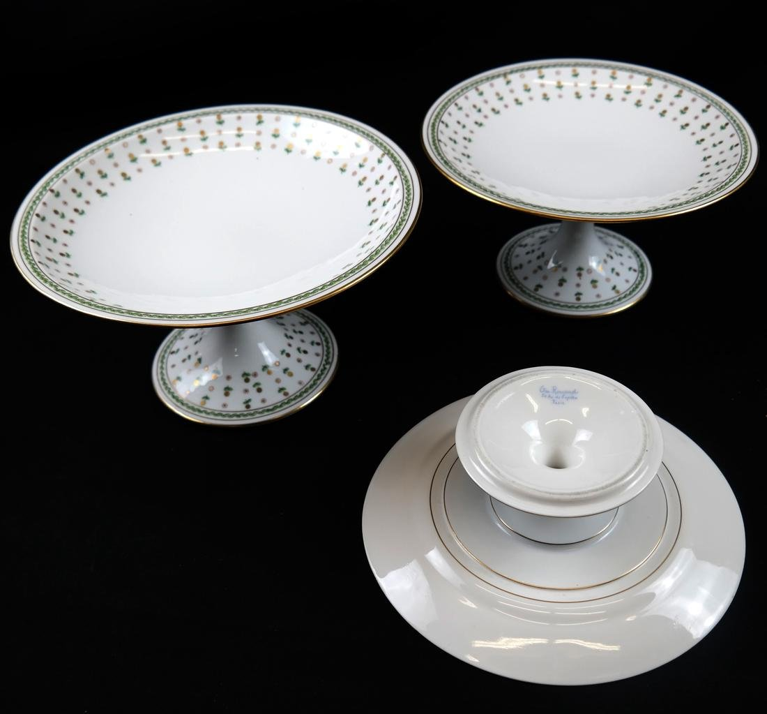 Partial French Porcelain Dinner Service - 6
