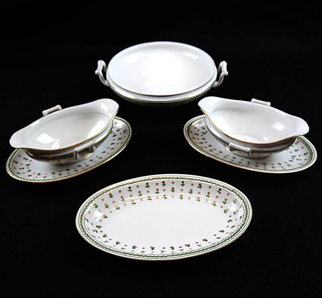 Partial French Porcelain Dinner Service - 9
