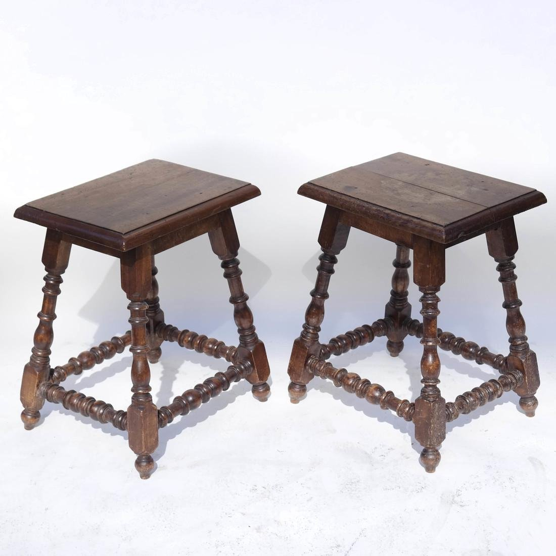 Pair 19th Century English Joined Stools