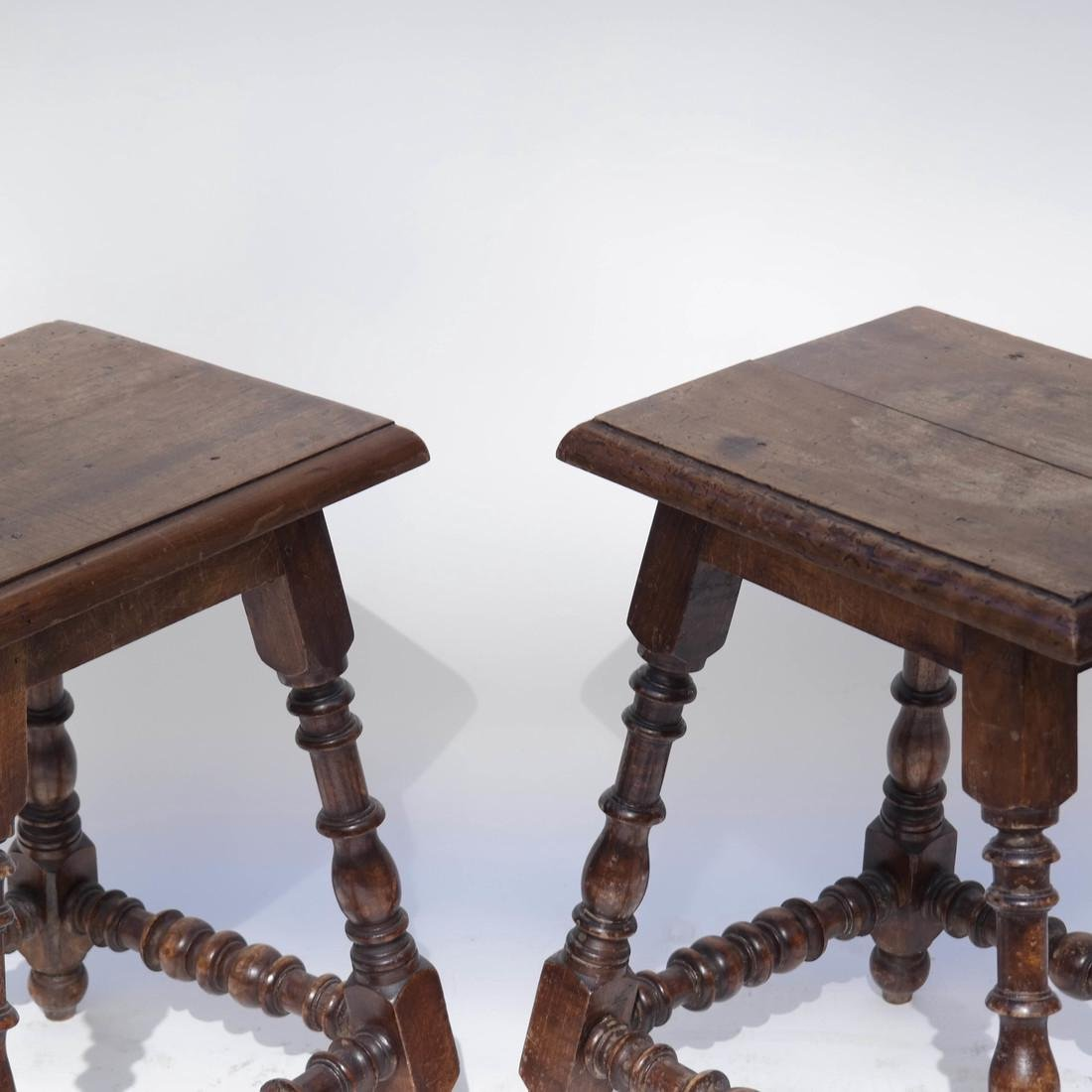 Pair 19th Century English Joined Stools - 3