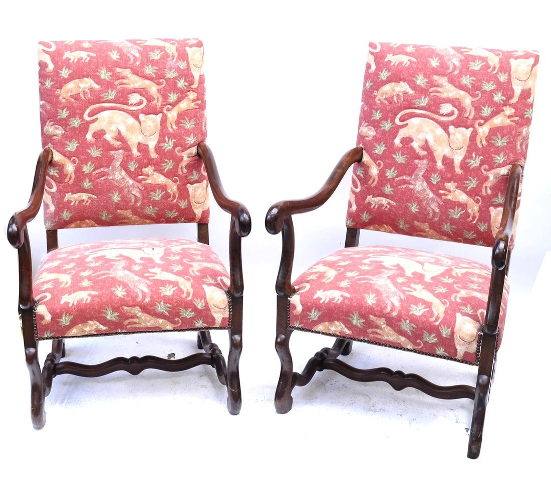 Pair of 19th Century Continental Chairs