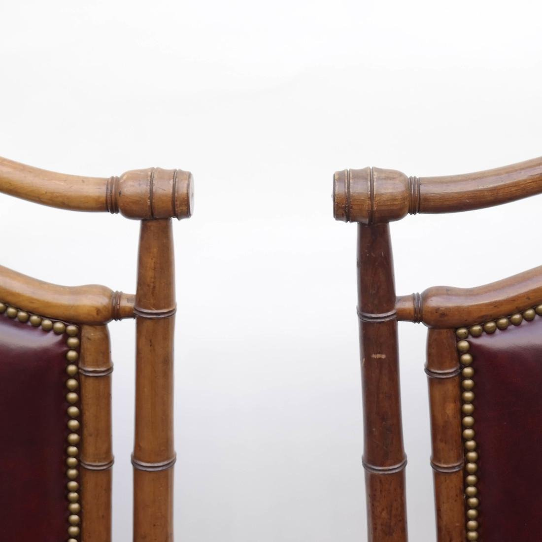 Three Faux Bamboo Armchairs - 2
