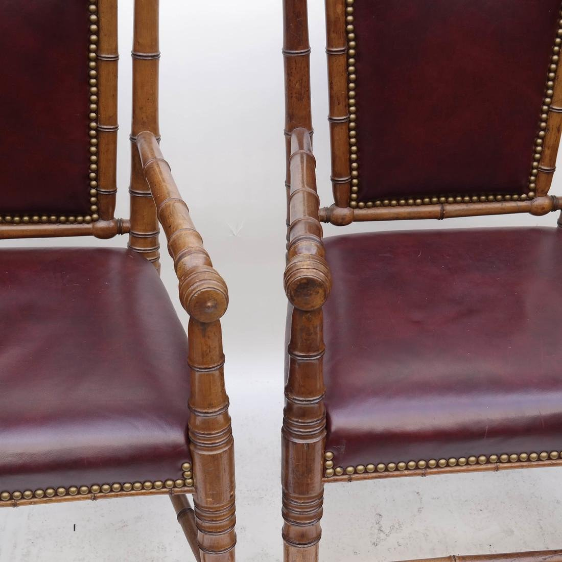 Three Faux Bamboo Armchairs - 3