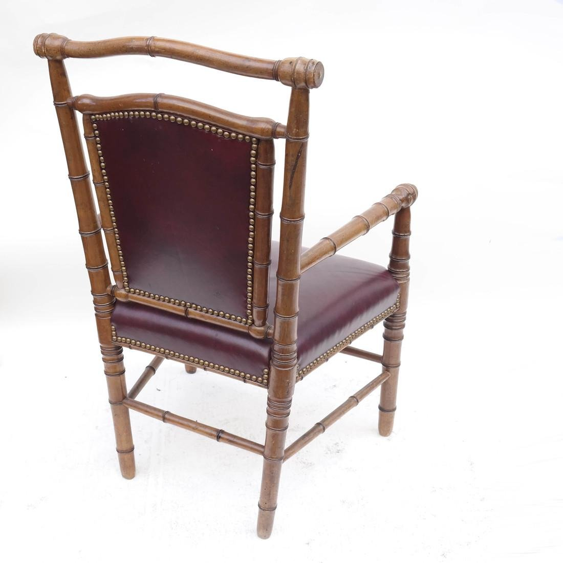 Three Faux Bamboo Armchairs - 4