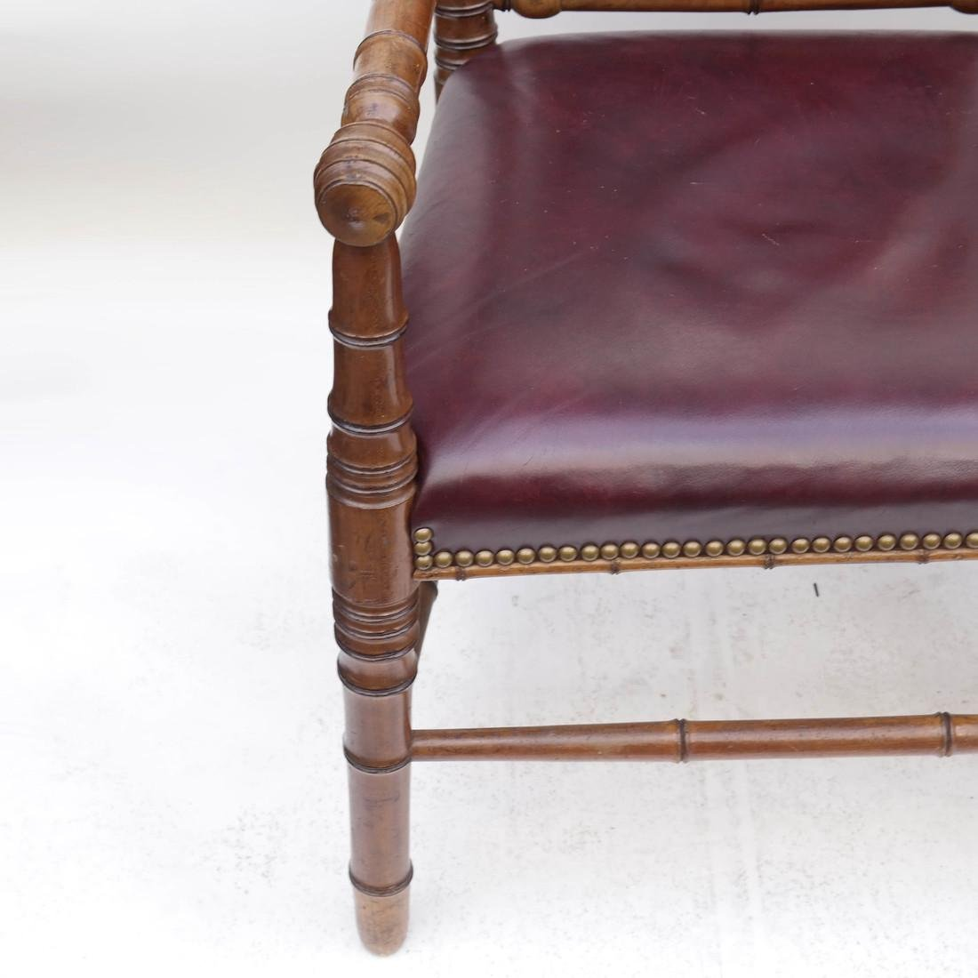 Three Faux Bamboo Armchairs - 6