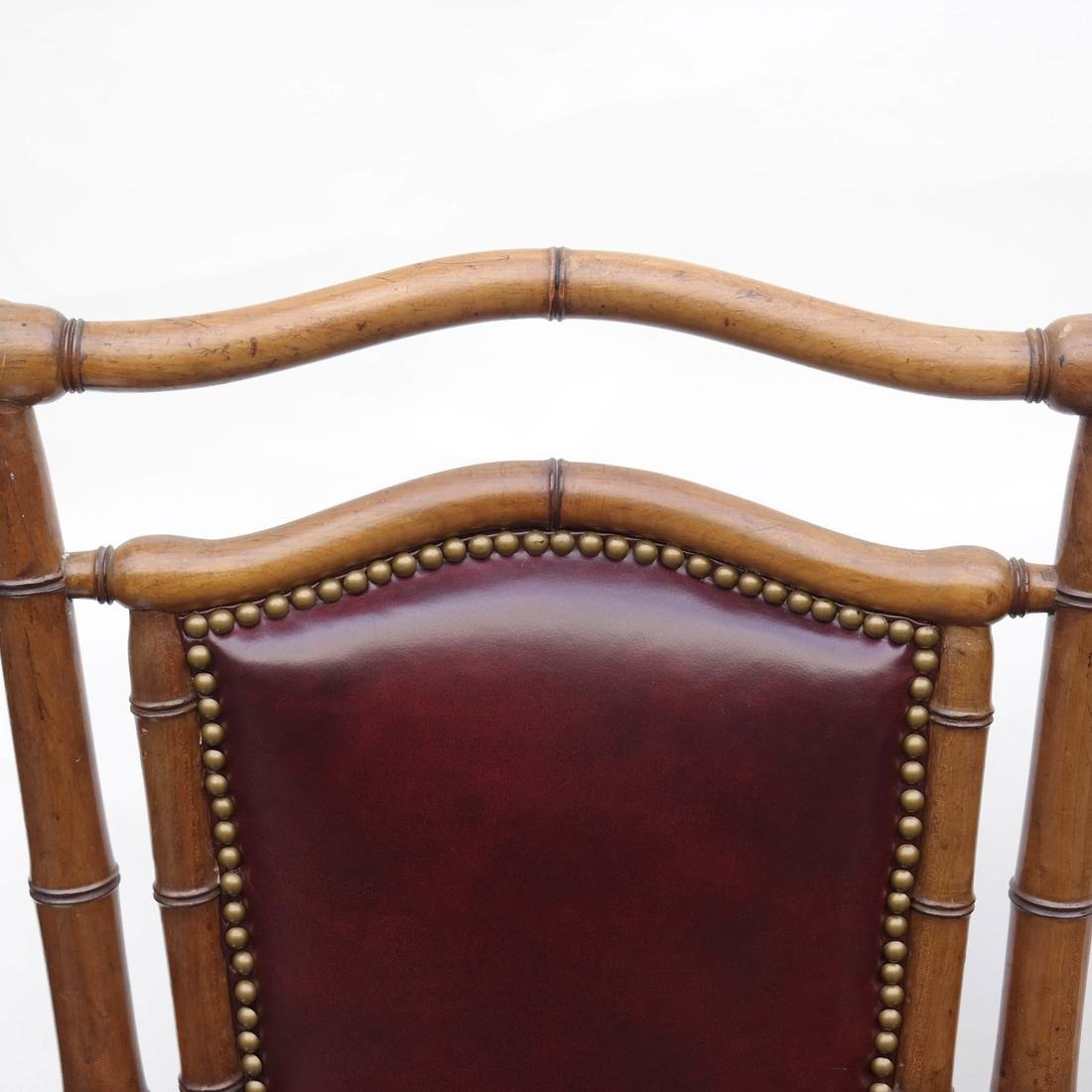 Three Faux Bamboo Armchairs - 7