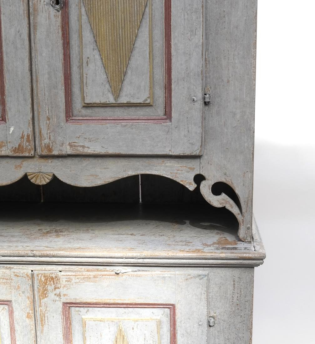 Two-Part Distressed Hutch - 2