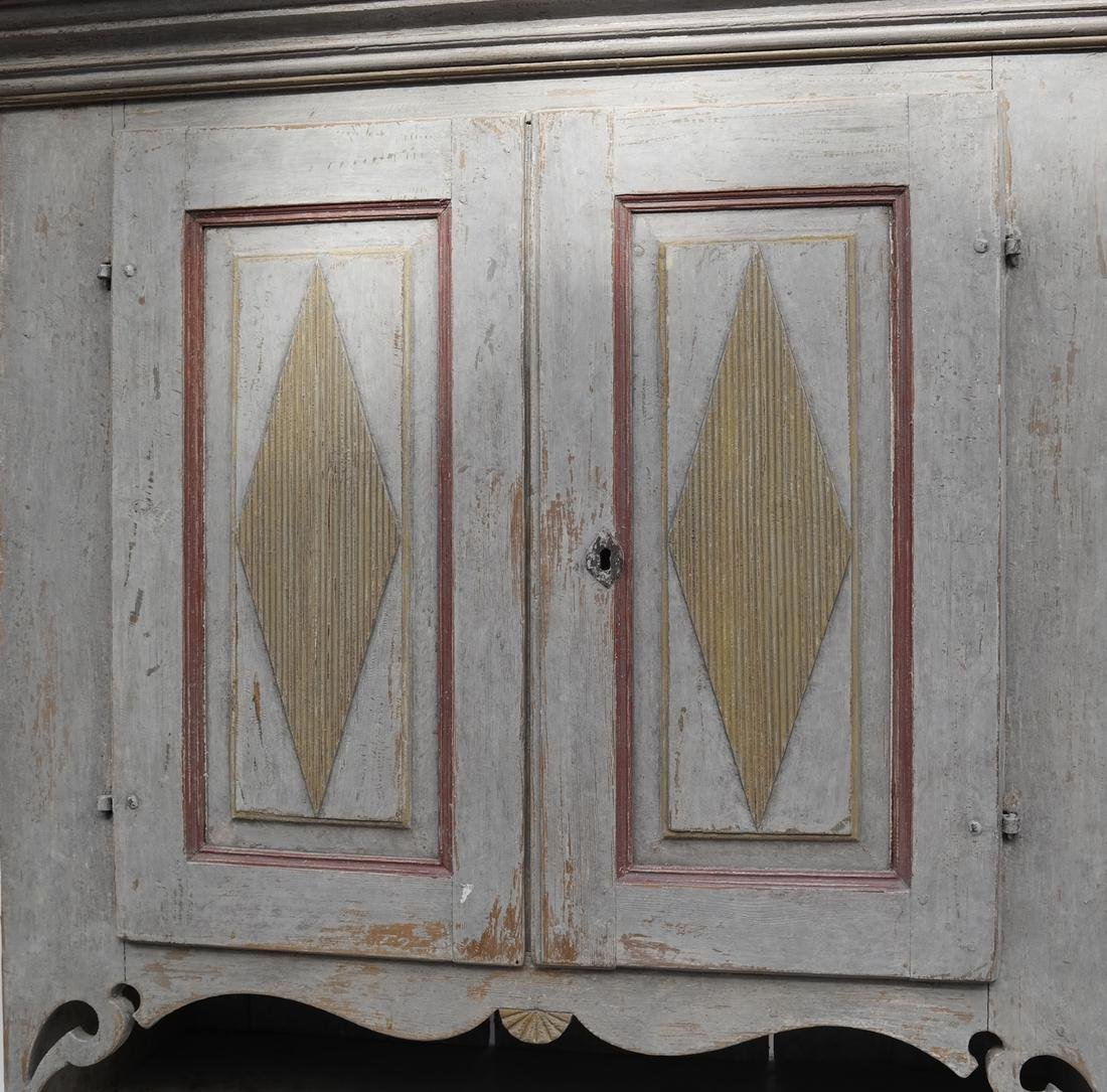 Two-Part Distressed Hutch - 3