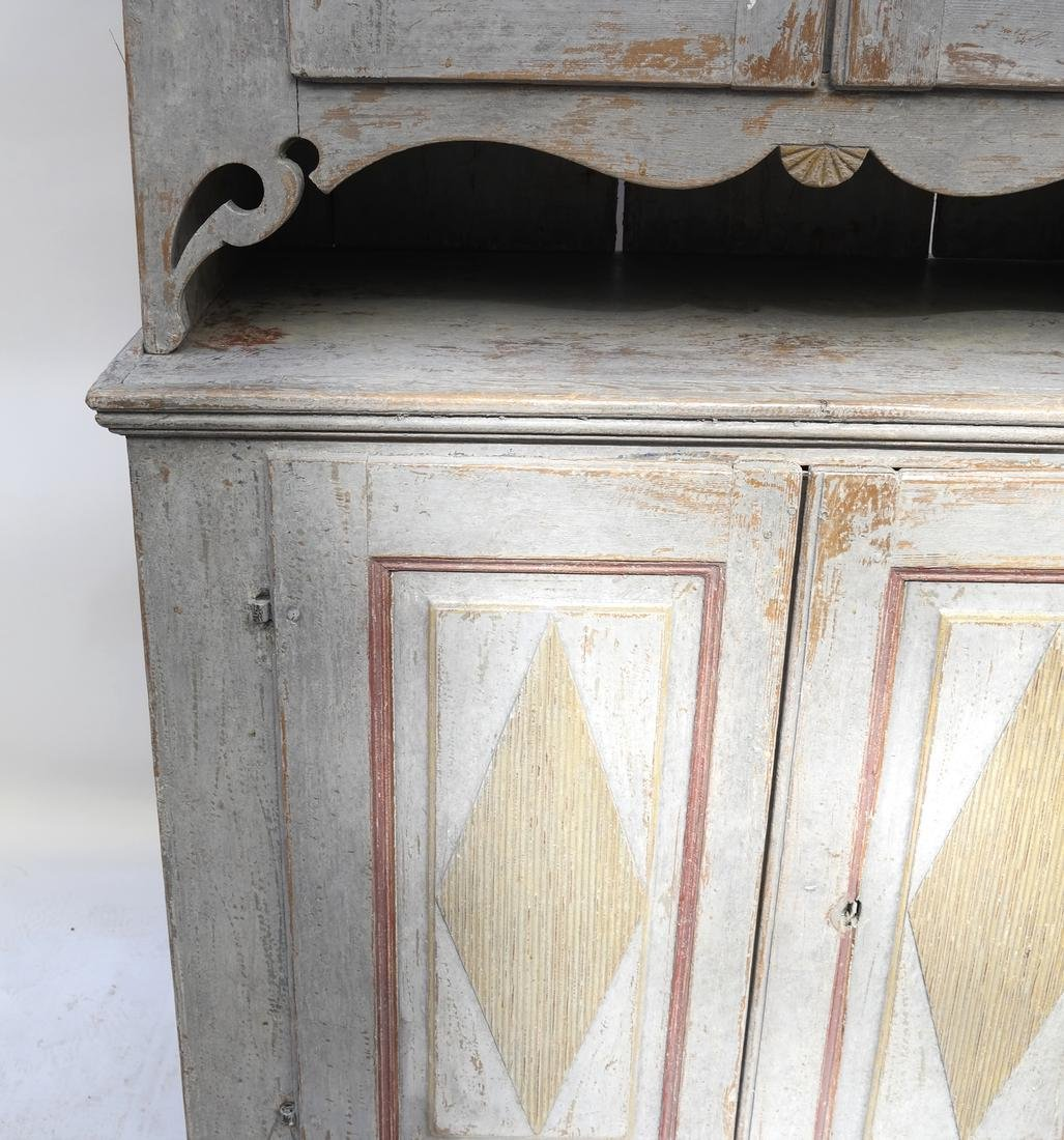 Two-Part Distressed Hutch - 4